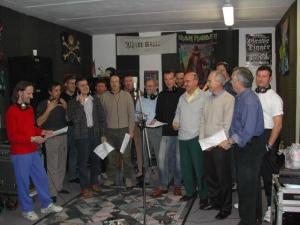 In sala d'incisione con il gruppo di epic metal Fanthasia (correva l'anno 2002...)